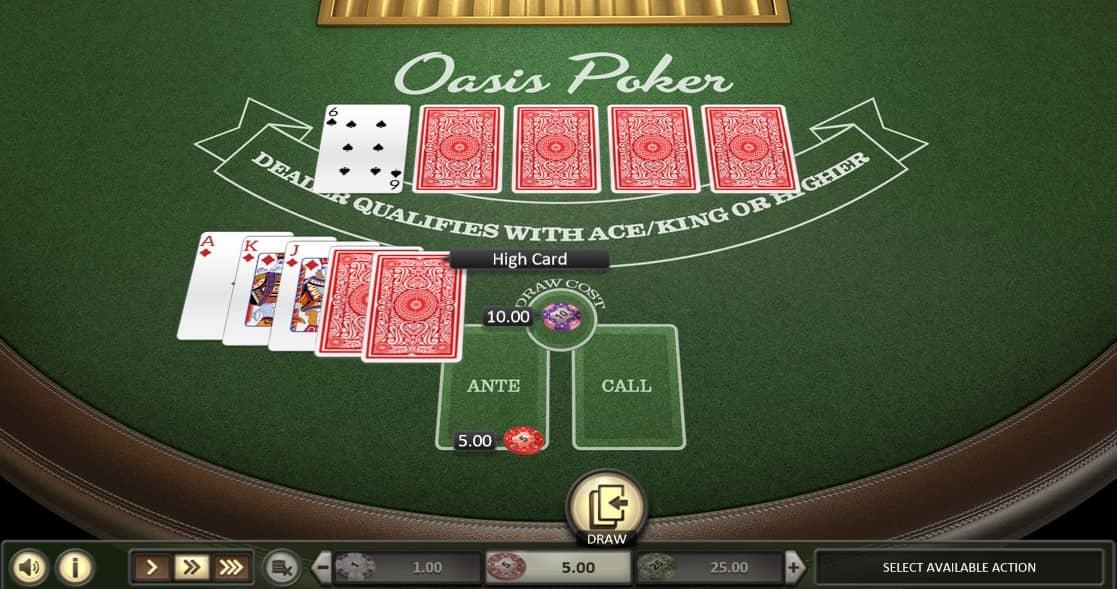Online oasis poker tafel